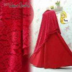 a200b Gamis Hasna Brokat Syari Merah
