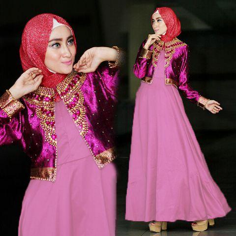 a215c baju pesta remaja azka3 ungu muda