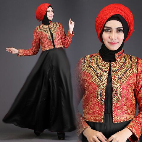 Baju Pesta Satin Talita2 A225b Busana Muslim Dian Pelangi