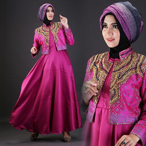 Baju Pesta Satin Talita2 A225b Busana Muslim Dian Pelangi Butik