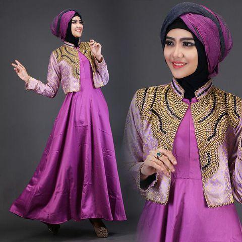 Baju Pesta Satin Talita2 A225b Busana Muslim Dian Pelangi Baju