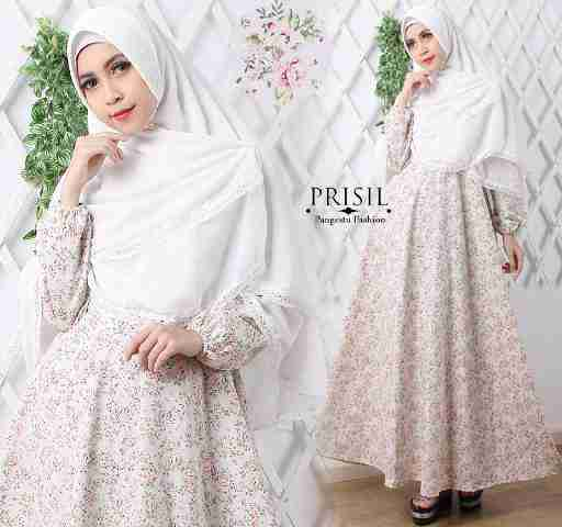 Baju Gamis Putih Grosir Hijab Nemo