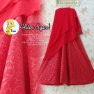 Gamis Sifon Glitter A260 Merah