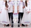 Baju Couple Putih CP222 Katun Bordir