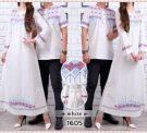 Baju Couple Putih CP222 Katun Bordir