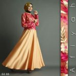 baju-pesta-satin-brokat-Gold-A207-Shiraaz