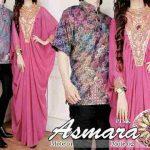 cp243 gamis couple asmara sifon pink