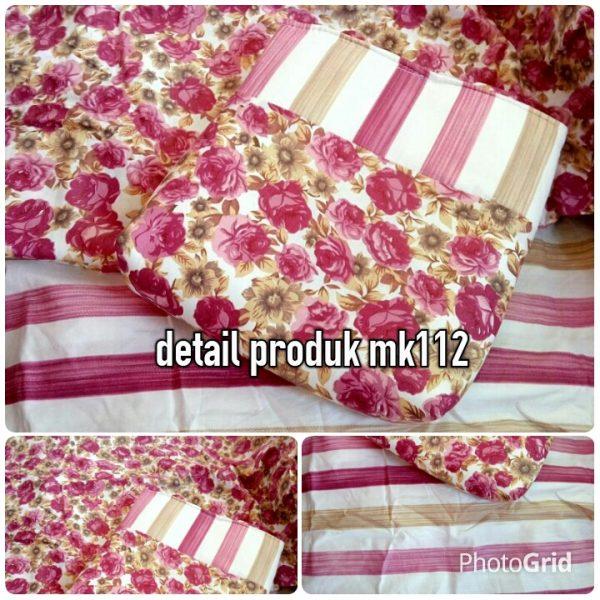 mk112 mukena katun jepang pink rose (real)