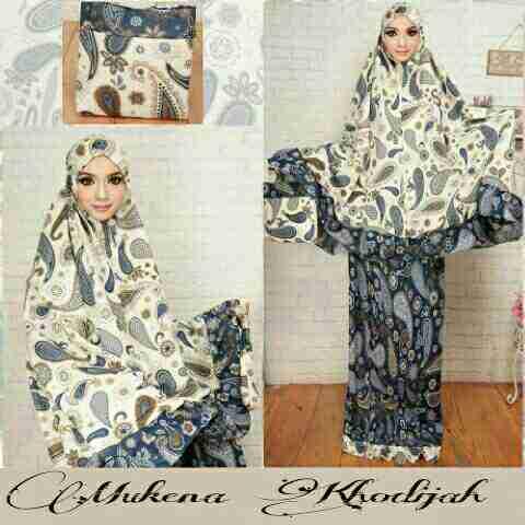 mk114 mukena katun jepang batik keong