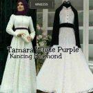 Gamis Brokat Tamara White P1140a Ungu