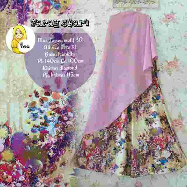 Gamis Modern Farah Syari B007 Dusty Pink