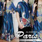 Batik Couple Sutra Paris Biru