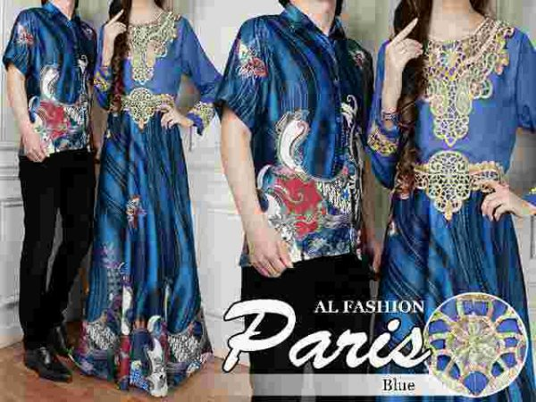 Batik Couple Sutra Paris Biru
