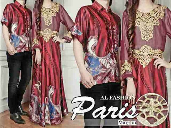 Batik Couple Sutra Paris Merah