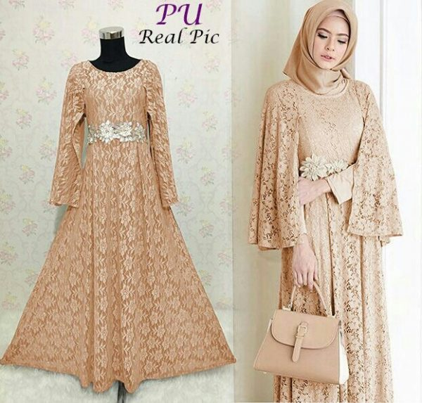 Gamis Pesta Brokat Ratih Salem