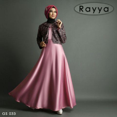 Baju Pesta Satin Rayya B009 Gamis Remaja Modern