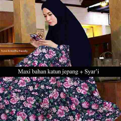 b033 baju muslim katun jepang
