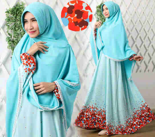 Gamis Syar I Modern B039 Versace Baju Muslim Terbaru Butik Jingga