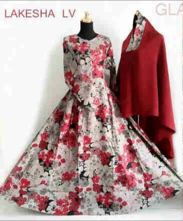 Gamis Katun Jepang Lakesha Syar 39 I B040 Baju Muslim Modern