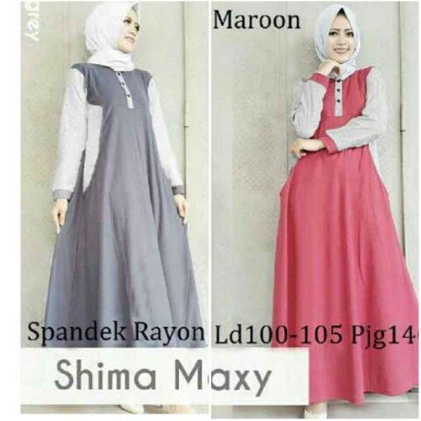 Gamis Remaja Shima Maxi B052 Baju Muslim Modern Murah