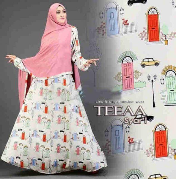 Gamis Modern Teeaa Syar 39 I Motif Terbaru Baju Muslim Remaja