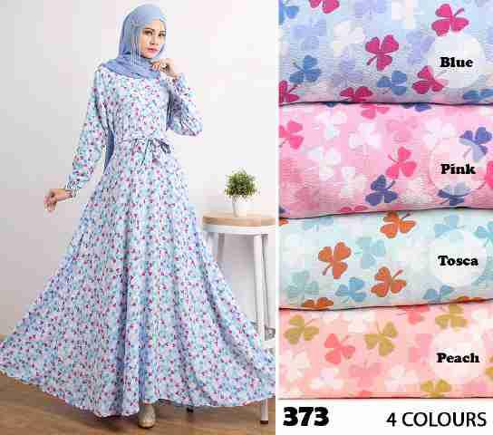 Gamis Modern Cantik 373 Crepe Baju Muslim Umbrella