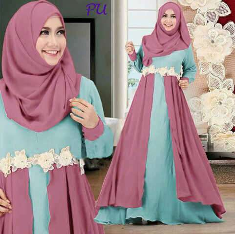 Gamis Modern B066 Indiy Layers Dusty