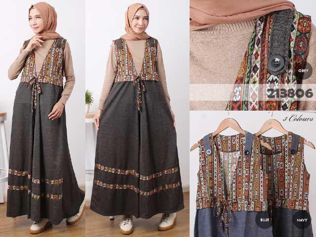 Long Vest Batik B071 Model Baju Remaja Terbaru Butik Jingga