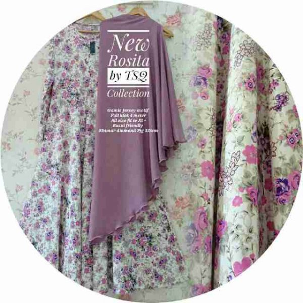 baju muslim jumbo syar'i rosita ungu