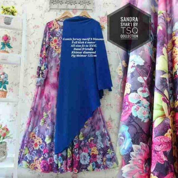 gambar baju gamis jumbo biru
