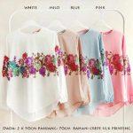 baju atasan aurora flowers