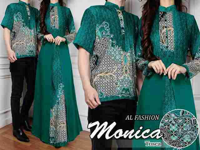 Cp072 Baju Batik Couple Monica Tosca Butikjingga Com