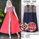 Busana Batik Cantik 305 Longvest