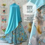 B095 gamis cantik natasya premium biru