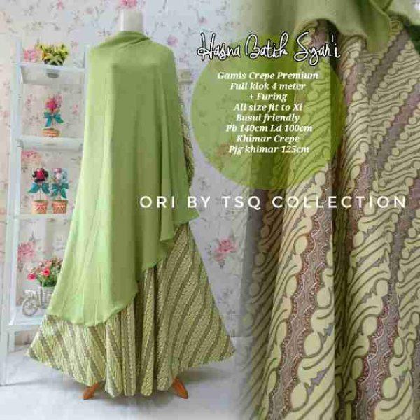 Gamis Katun Premium B112 Hasna Batik Baju Muslim Syar I Butik Jingga