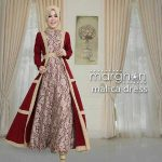 Gamis Brokat Malica Dress Marun