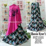 Gamis Cantik Rania Crepe B019 Hitam