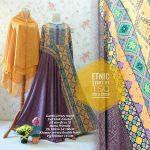 Gamis Jumbo Etnik Syar'i B099 - Baju Muslim Batik Modern