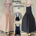 gamis remaja flaming overall
