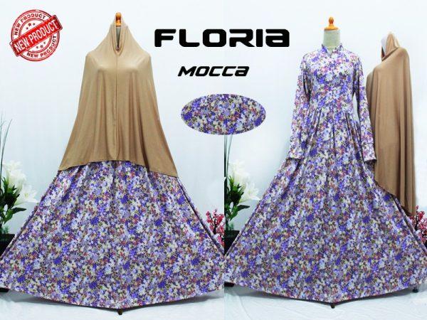 model Gamis Cantik Murah B104 Floria Syar'i
