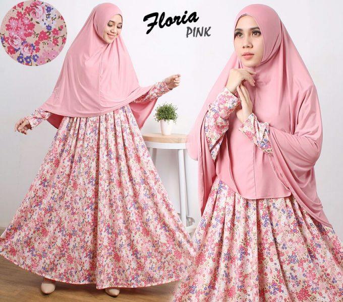 Gamis Cantik Murah B104 Floria Syar I Jual Baju Muslim Butik Jingga