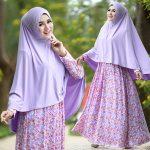 B105 gamis cantik murah afiyah lavender