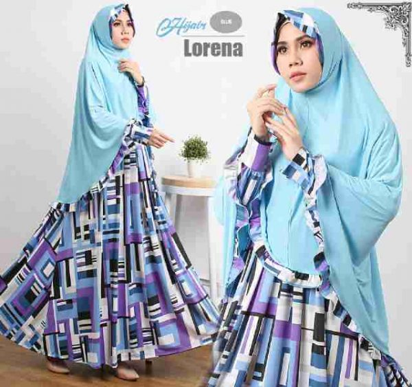 model Gamis Cantik Murah B121 Lorena Syar'i