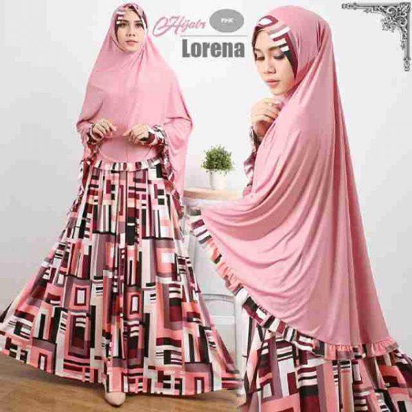 Model Gamis Cantik Murah Lorena Syar'i Pink