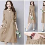Baju Atasan Denim Tunik (Midi Dress) milo