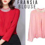 Baju Atasan Wanita Fransia Blouse