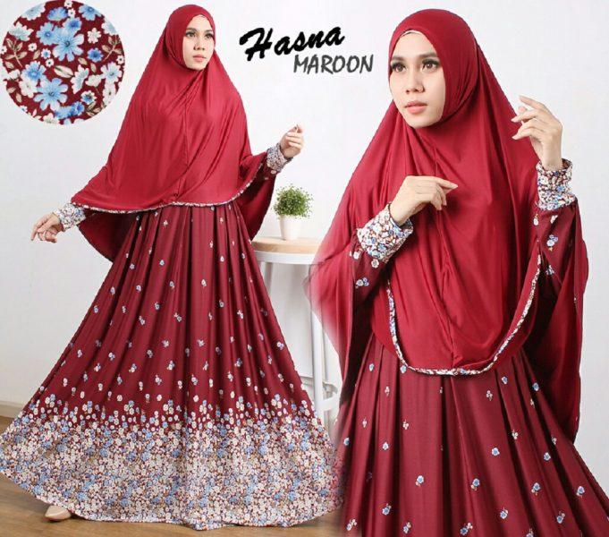Gamis Cantik Murah B106 Hasna Syar i - Baju Muslim Online - Butik Jingga 16b39e8142