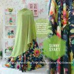 b130 gamis cantik sunny syari hijau