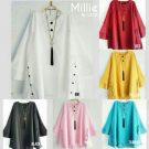 Baju Atasan Millie Blouse Bahan Katun