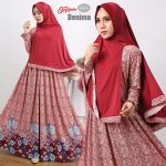gamis-cantik-murah-denima-hijab-maroon